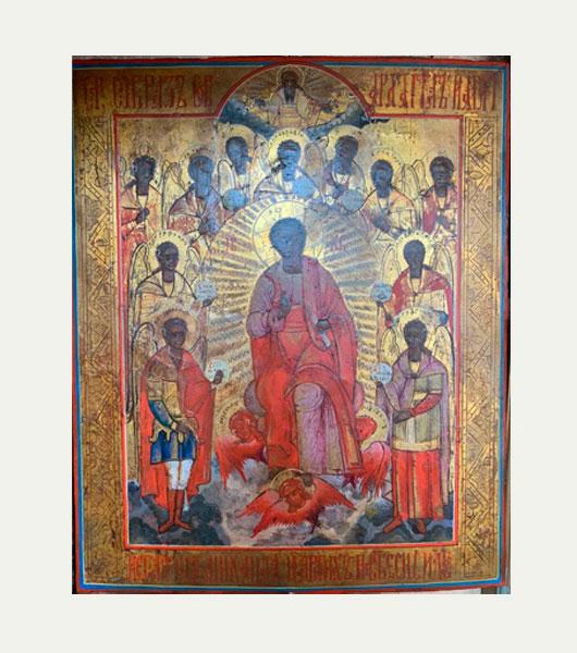 Икона Архангел Михаил с небесным воинством