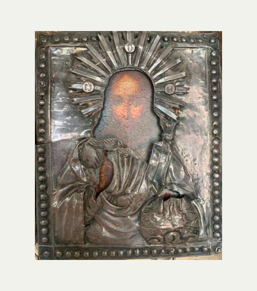 Икона серебряный оклад