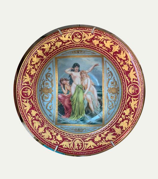 Тарелка Вена 19 век
